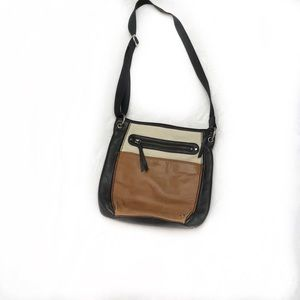 The Sak Tri-color Leather Crossbody Bag